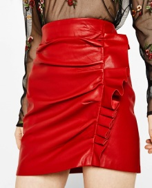 jupe rouge bershka